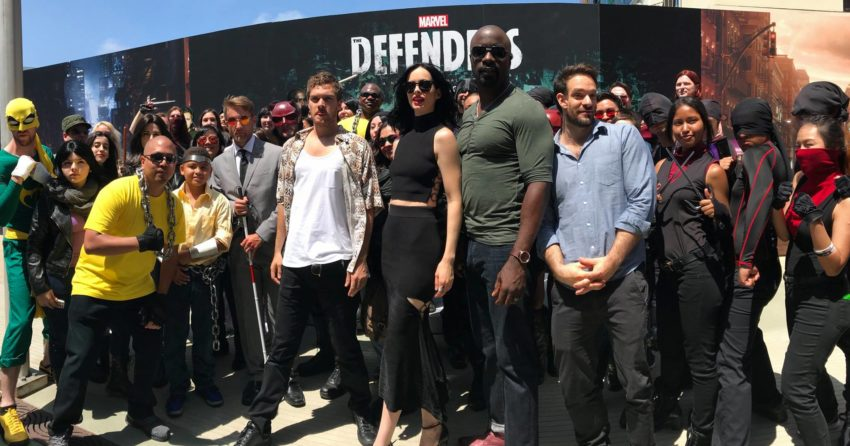 Photo des Defenders à la Comic-Con 2017