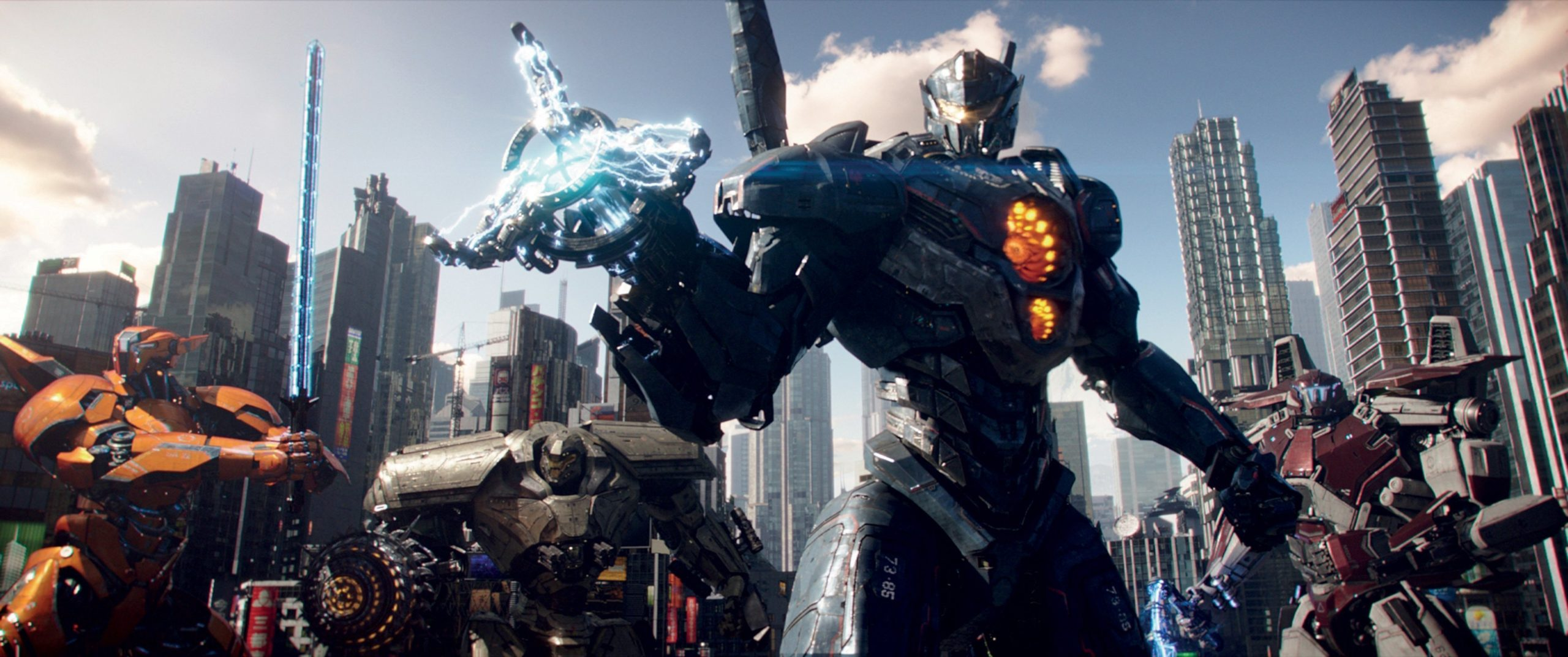 Photo du film Pacific Rim: Uprising avec les Jaegers ensemble