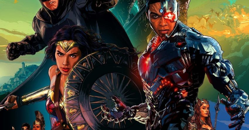 Poster Dolby Cinema pour le film Justice League
