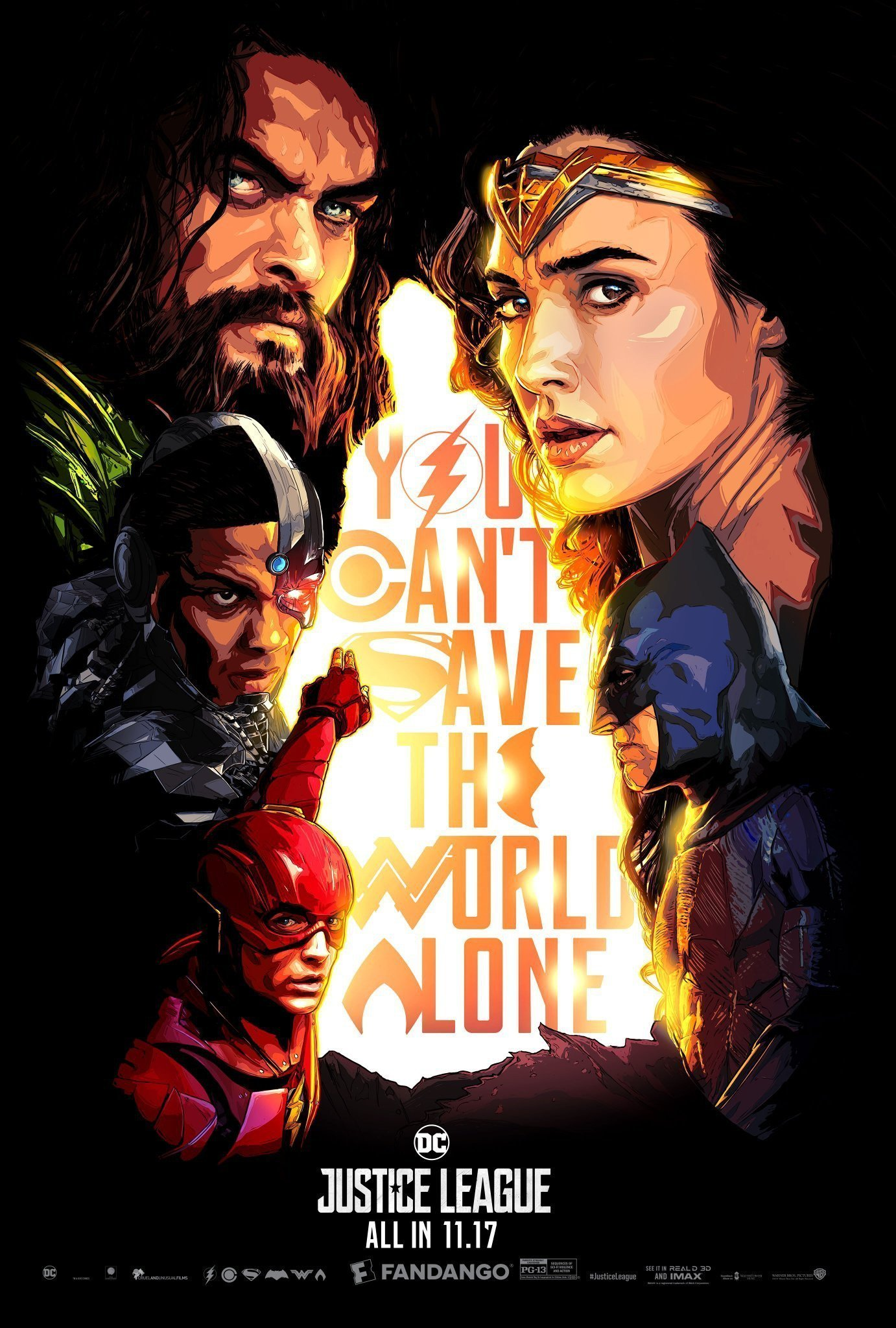 Poster Fandango du film Justice League