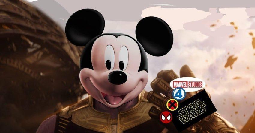 Humour avec Mickey Mouse en Thanos pour illustrer le deal Disney/Fox