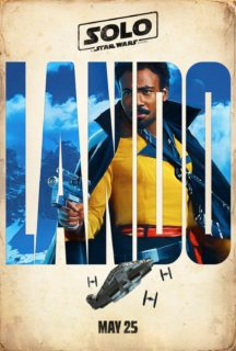 Poster personnage du film Solo: A Star Wars Story avec Lando (Donald Glover)