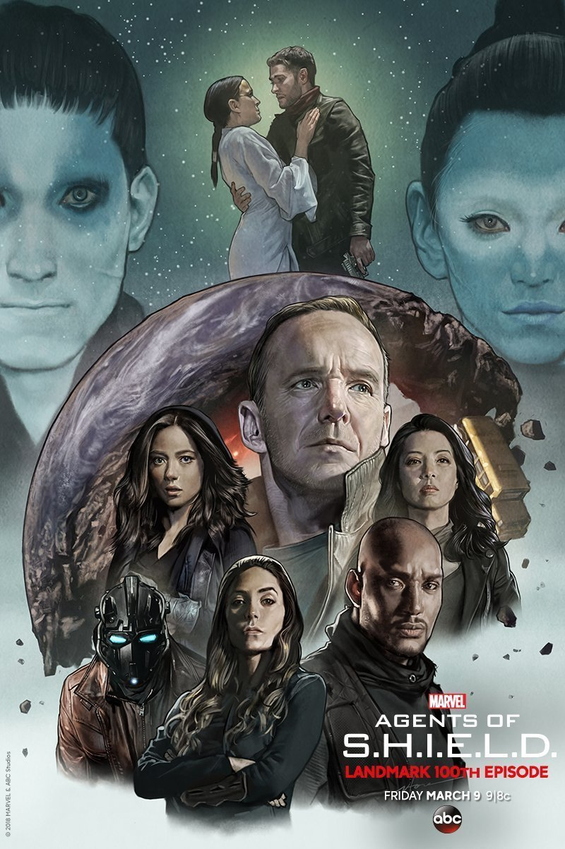 Poster de la cinquième saison de Marvel's Agents of SHIELD pour l'évènement The Road to 100
