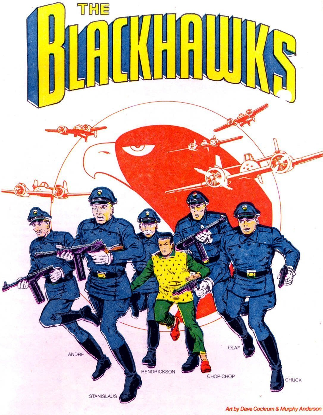 Couverture du comic DC The Blackhawks par Dave Cockrum et Murphy Anderson