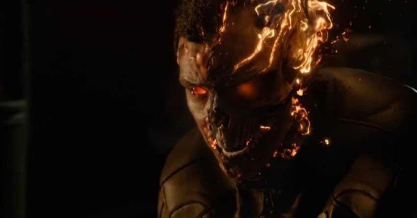Photo de la transformation de Robbie Reyes en Ghost Rider dans la saison 4 d'Agents of SHIELD