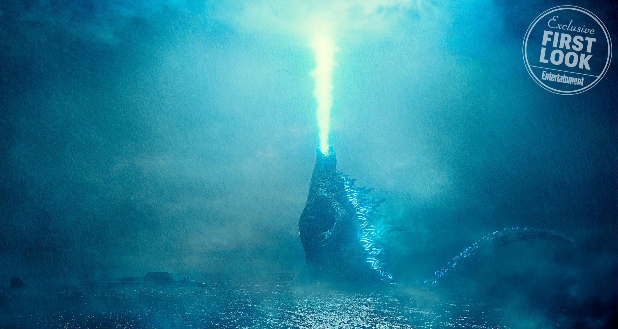 Photo du film Godzilla: King of the Monsters avec un premier aperçu de Godzilla