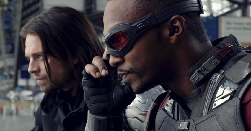 Photo du film Captain America: Civil War avec Winter Soldier et Falcon