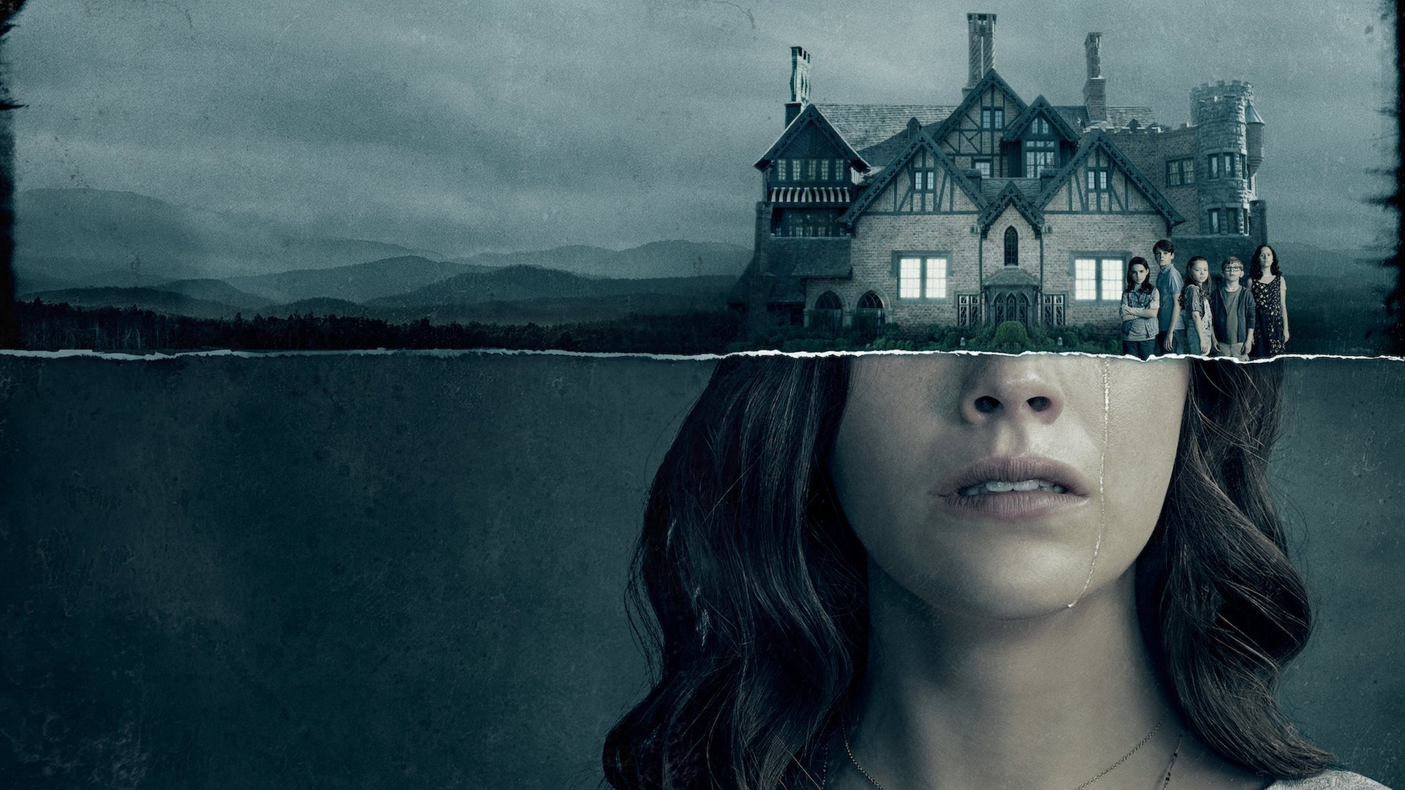 Bannière de la série Netflix The Haunting of Hill House créée par Mike Flanagan