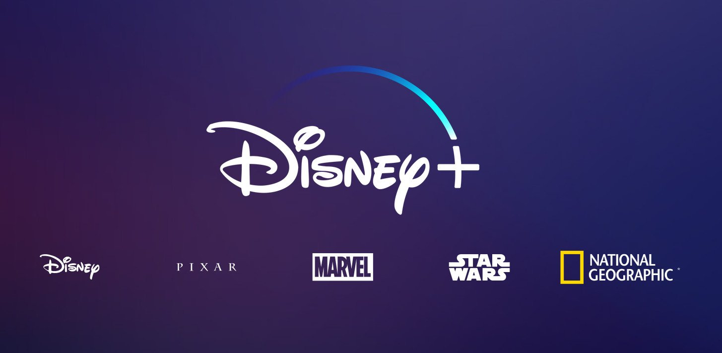 Logo du service de streaming, Disney + avec Pixar, Marvel et Star Wars