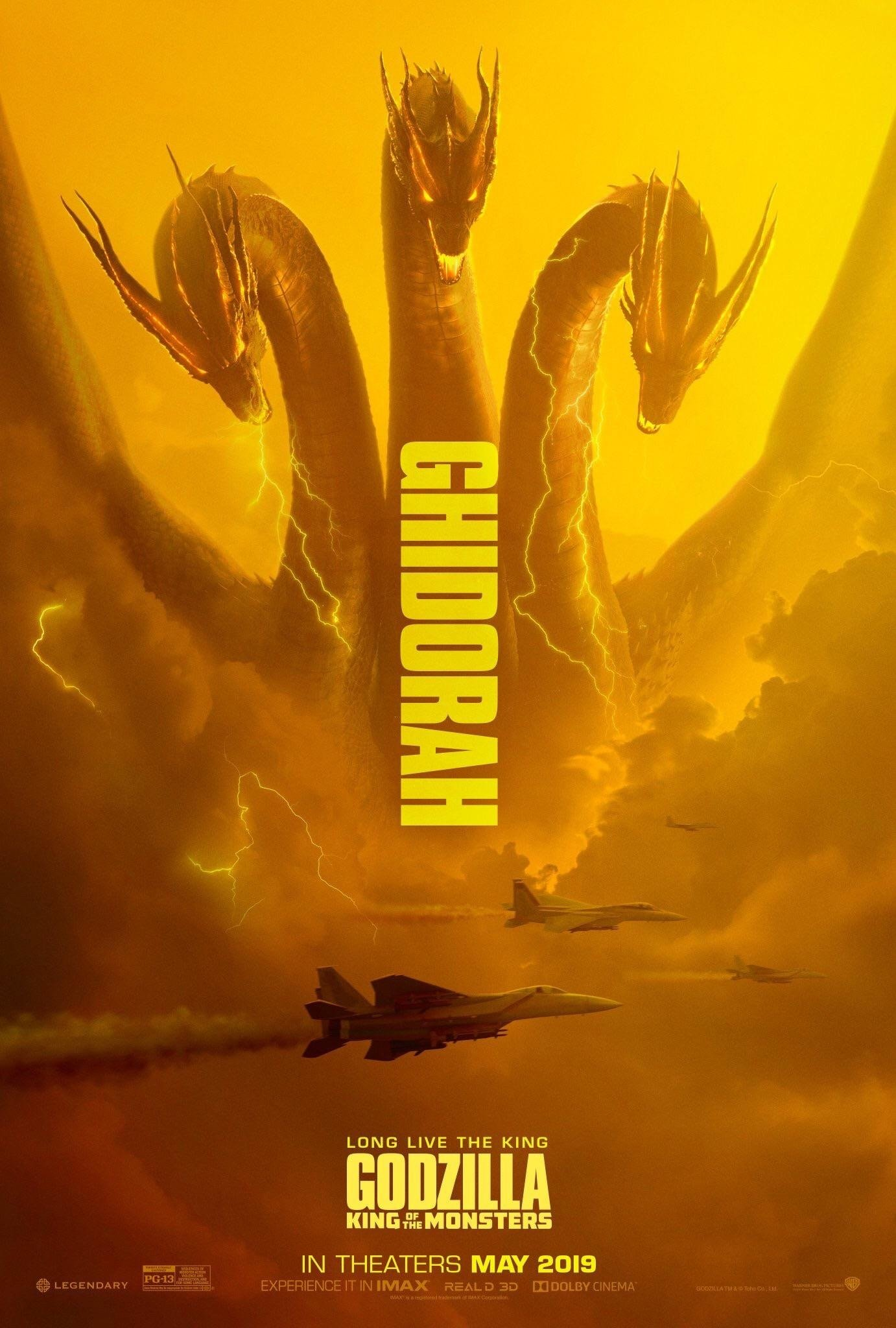 Poster du film Godzilla: King of the Monsters avec le Kaijū Ghidorah