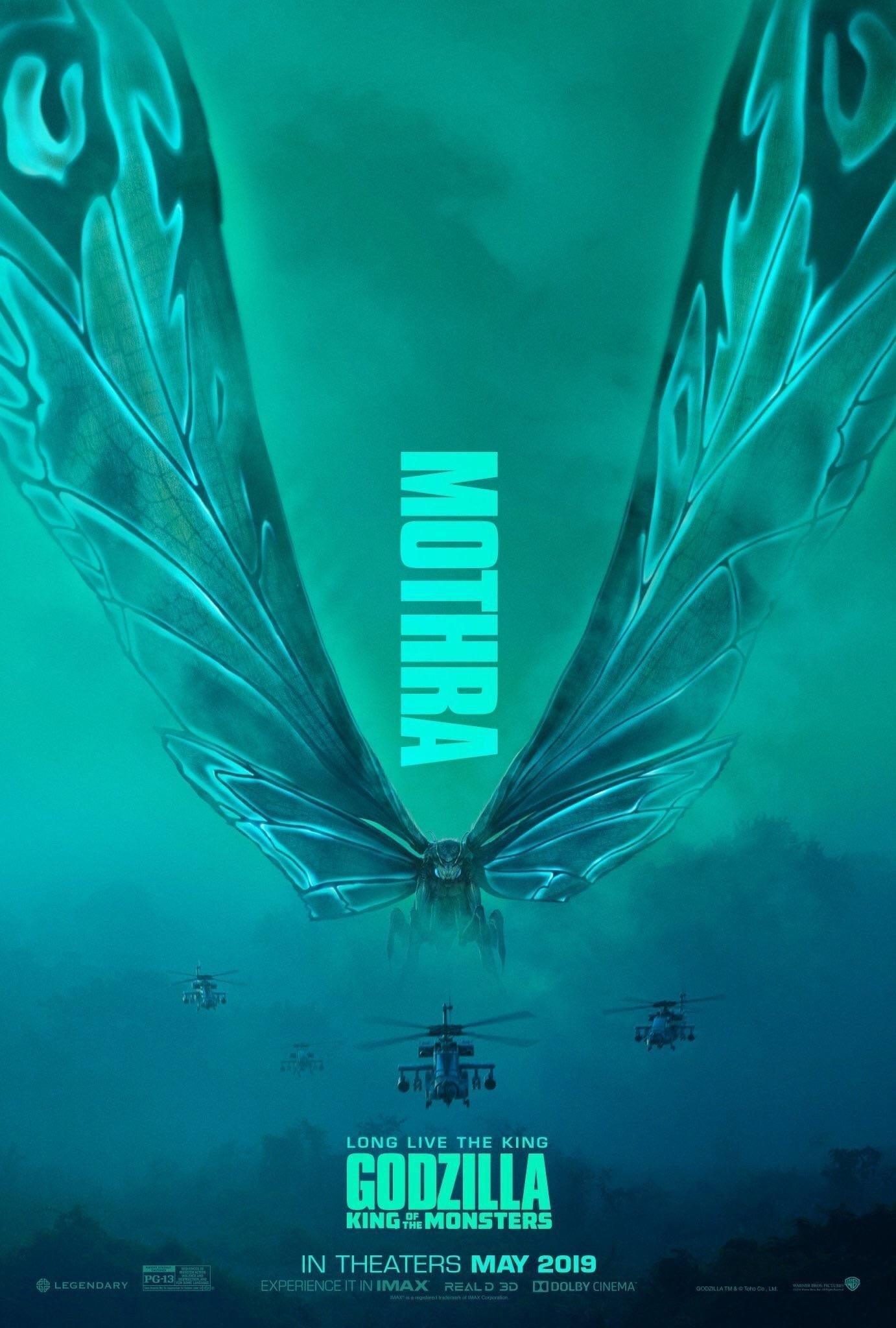 Poster du film Godzilla: King of the Monsters avec le Kaijū Mothra