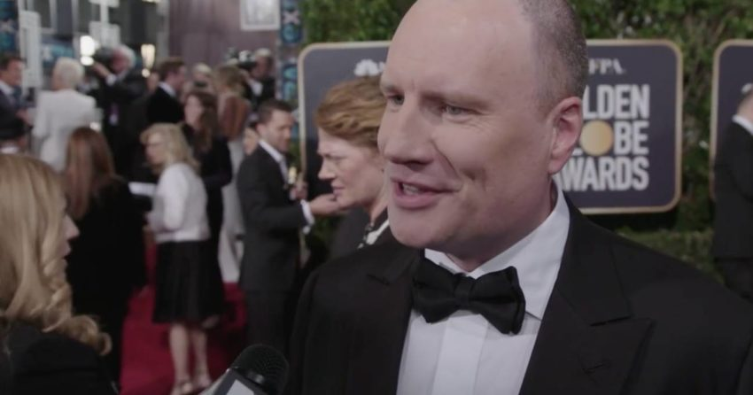 Photo de Kevin Feige interviewé par MTV aux Golden Globes 2019