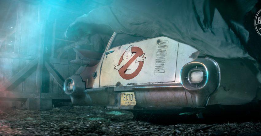 Photo du teaser du SOS Fantômes de Jason Reitman présentant le Ecto-1