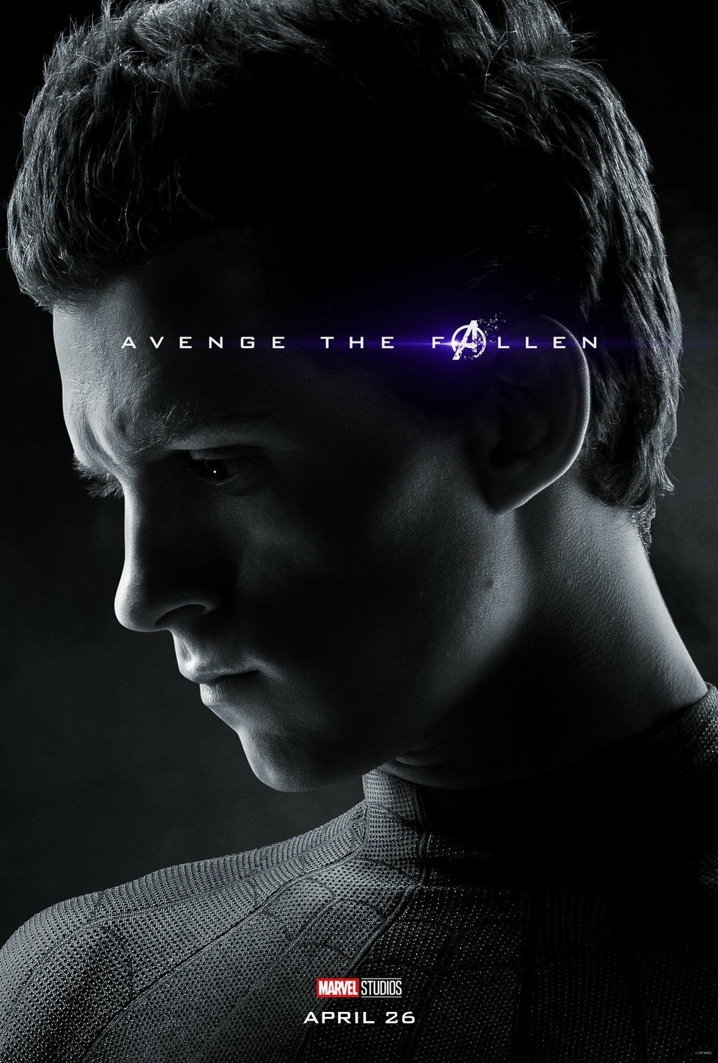 Poster du film Avengers: Endgame avec Spider-Man (Tom Holland)