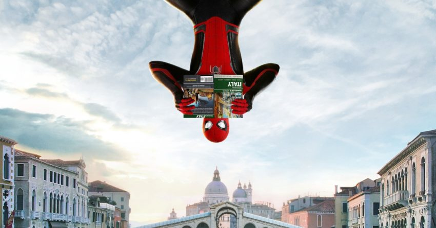 Poster pour le film Spider-Man: Far From Home à Venise, en Italie