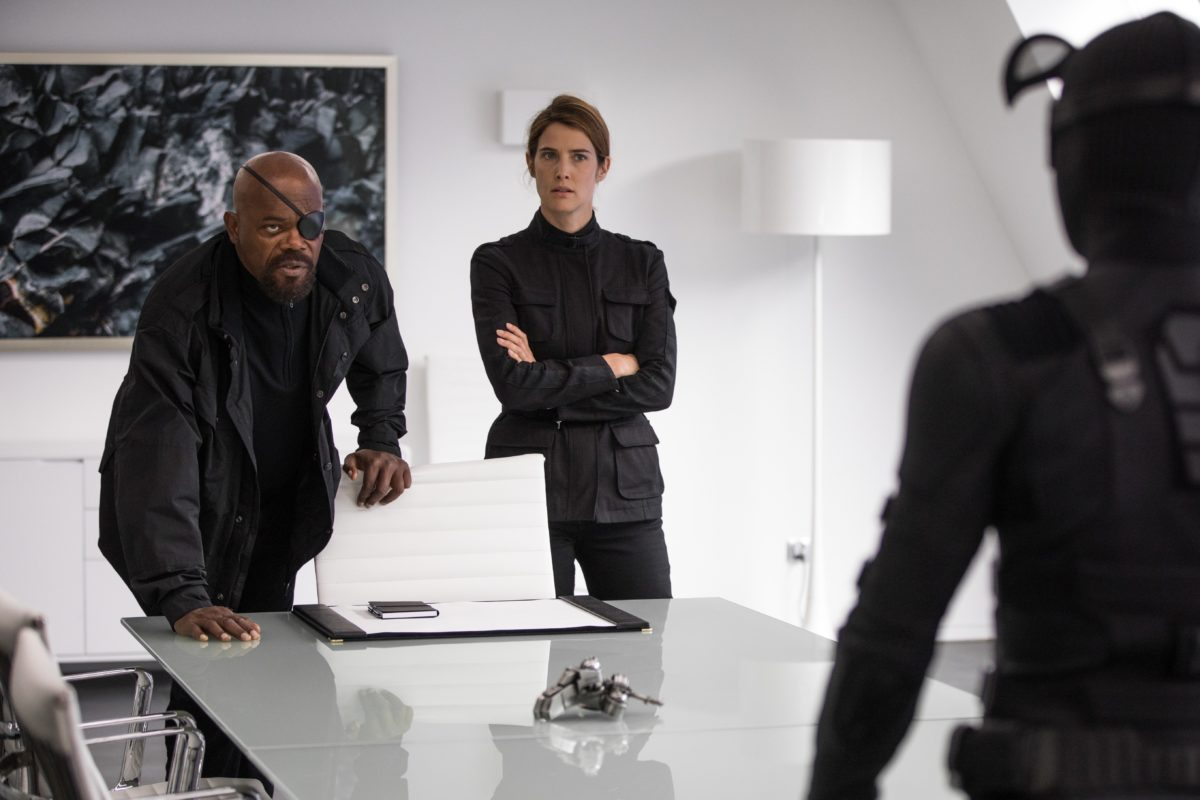 Photo du film Spider-Man: Far From Home avec Samuel L. Jackson et Cobie Smulders