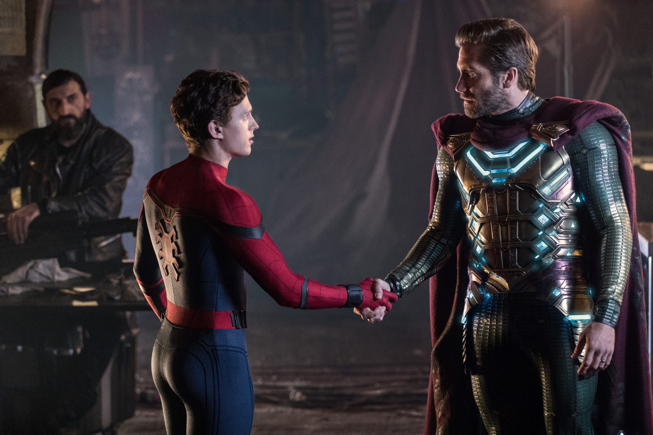 Photo du film Spider-Man: Far From Home avec Tom Holland et Jake Gyllenhaal