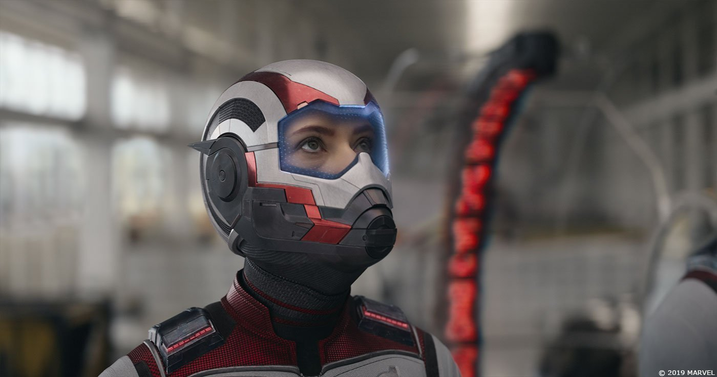 Photo du film Avengers: Endgame avec Black Widow en costume de chrononaute