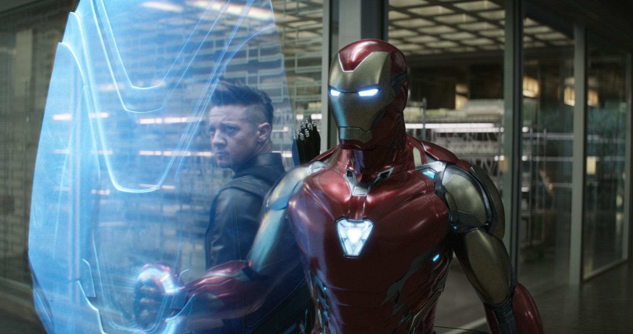 Photo du film Avengers: Endgame avec Hawkeye et Iron Man