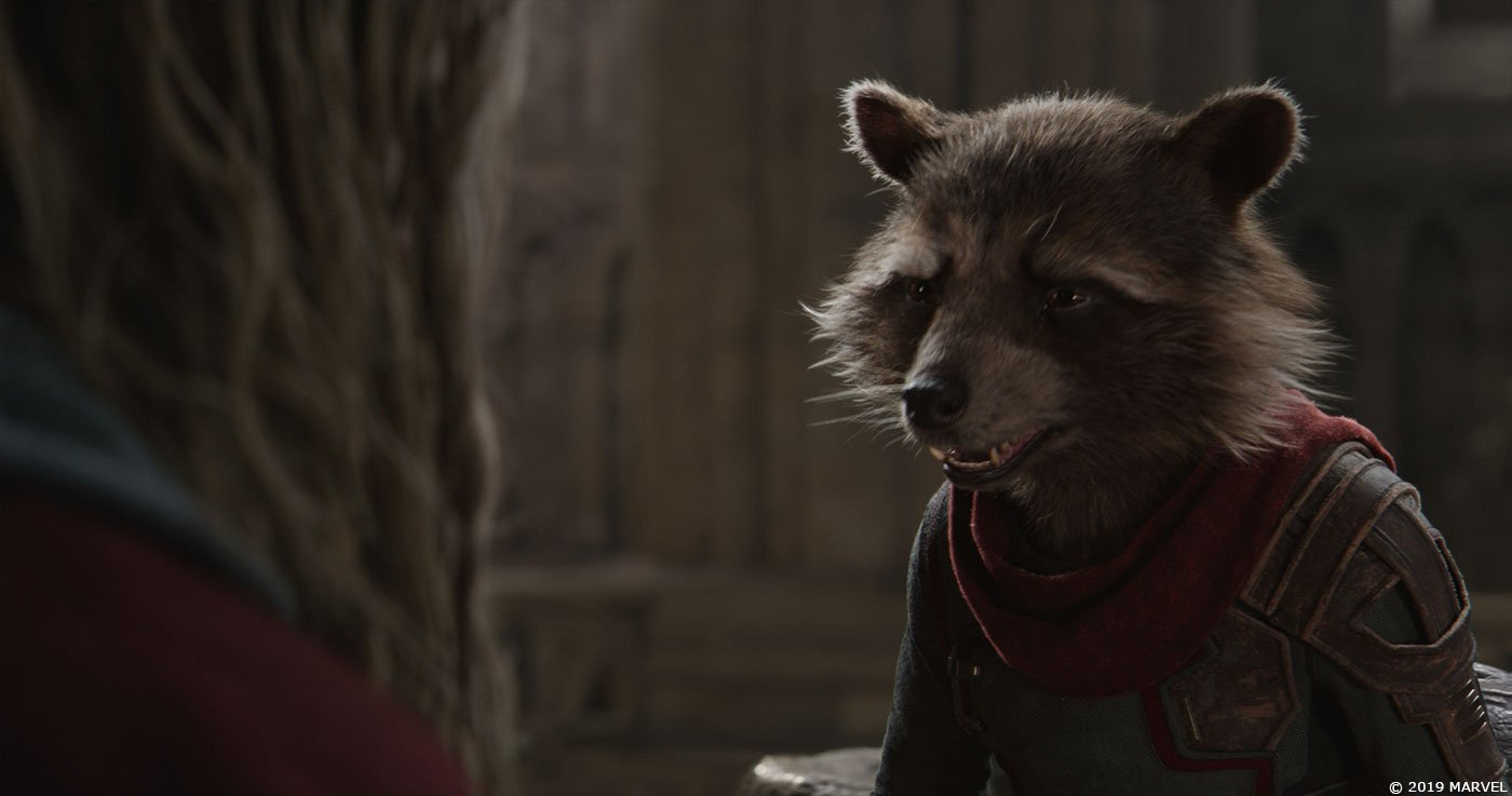 Photo du film Avengers: Endgame avec Thor et Rocket en 2013