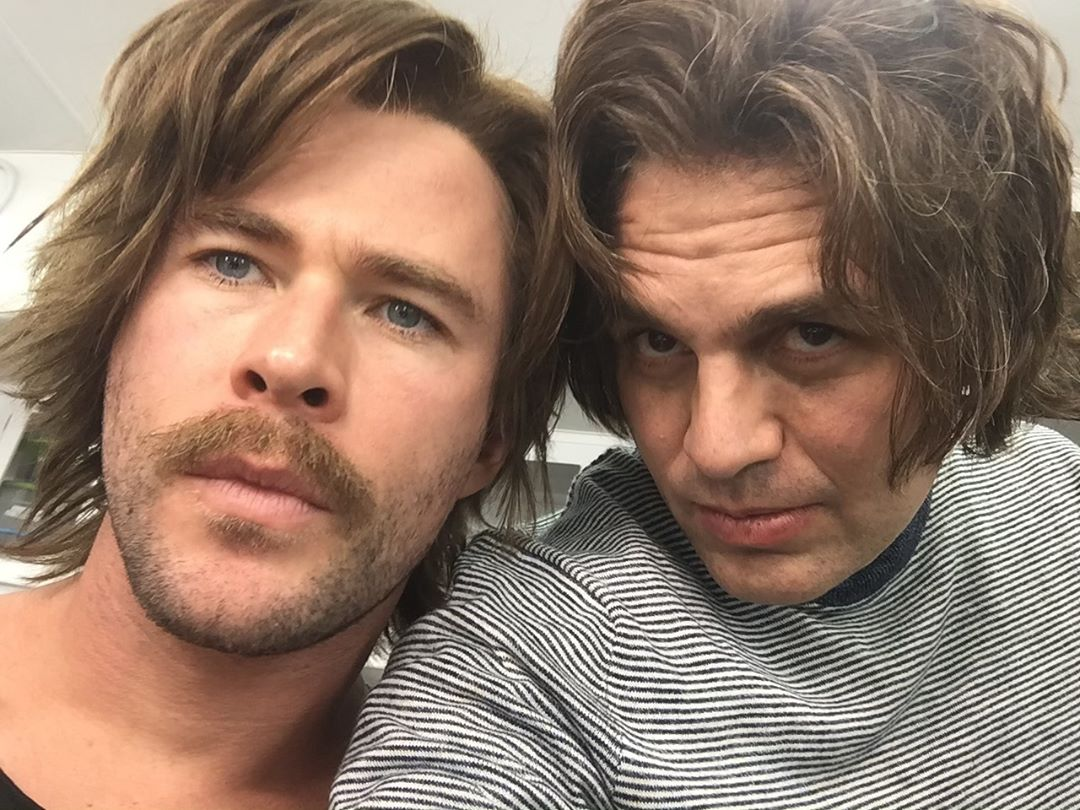 Photo du tournage du film Avengers: Endgame avec Chris Hemsworth et Mark Ruffalo