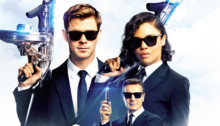 Affiche française pour le film Men In Black International réalisé par F. Gary Gray avec Chris Hemsworth, Tessa Thompson, Rebecca Ferguson et Liam Neeson