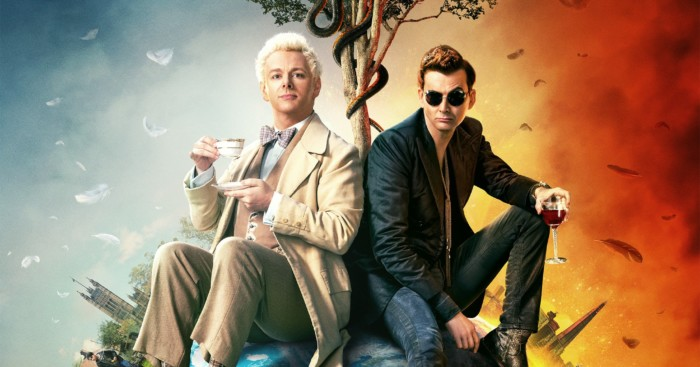 Poster de la mini-série Good Omens avec Michael Sheen et David Tennant