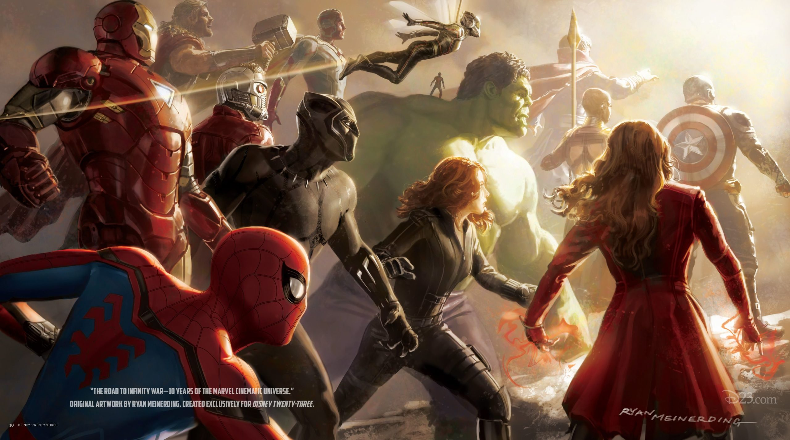Concept Art Road to Infinity War par Ryan Meinerding