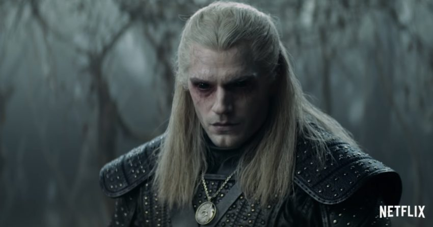 Photo de la série The Witcher avec Geralt de Riv (Henry Cavill)