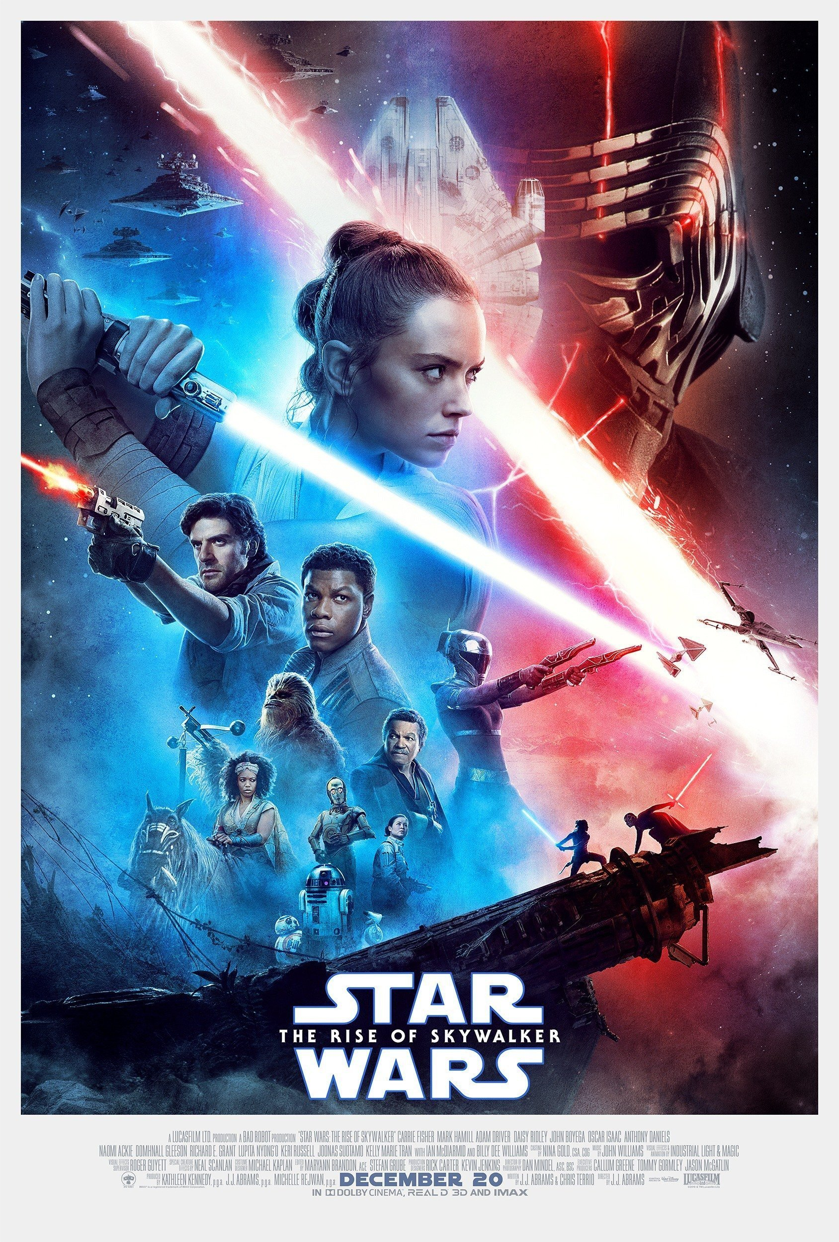 Poster final du film Star Wars: L'Ascension de Skywalker (Star Wars: The Rise of Skywalker en VO)
