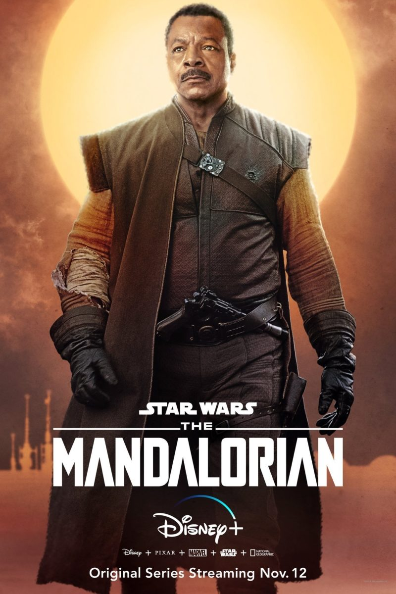 Poster pour la série Star Wars, The Mandalorian, avec Carl Weathers (Greef Carga)