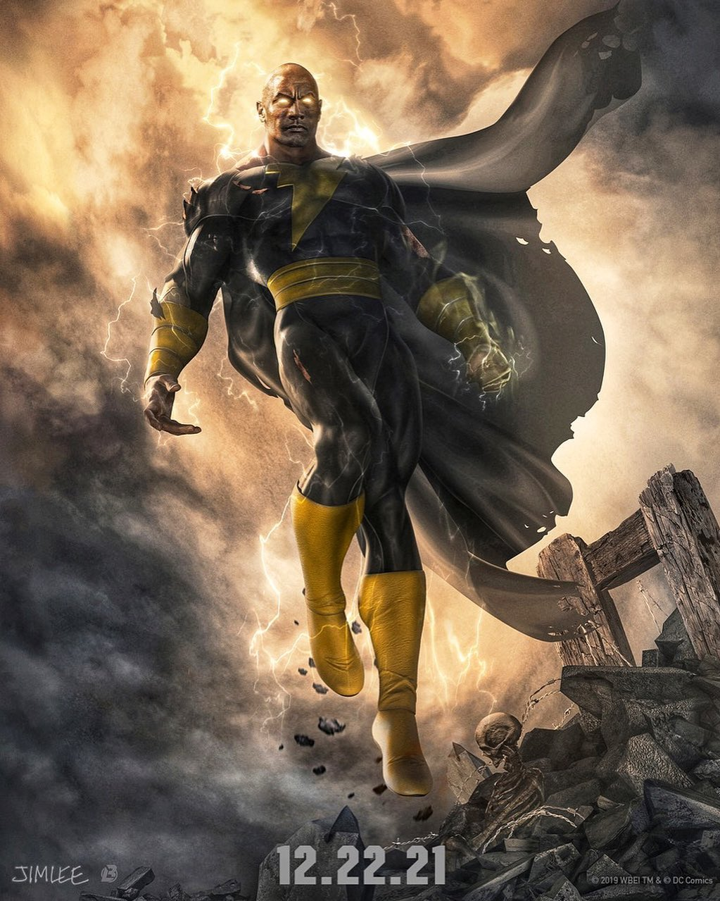 Concept art du film Black Adam par Jim Lee et BossLogic