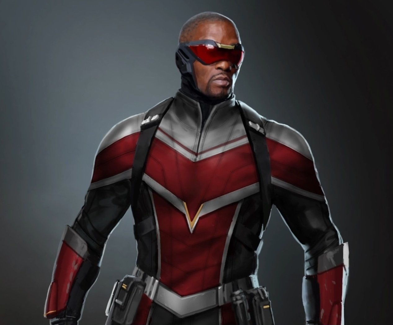 Concept art pour la série The Falcon and The Winter Soldier créée par Malcolm Spellman avec Falcon (Anthony Mackie)