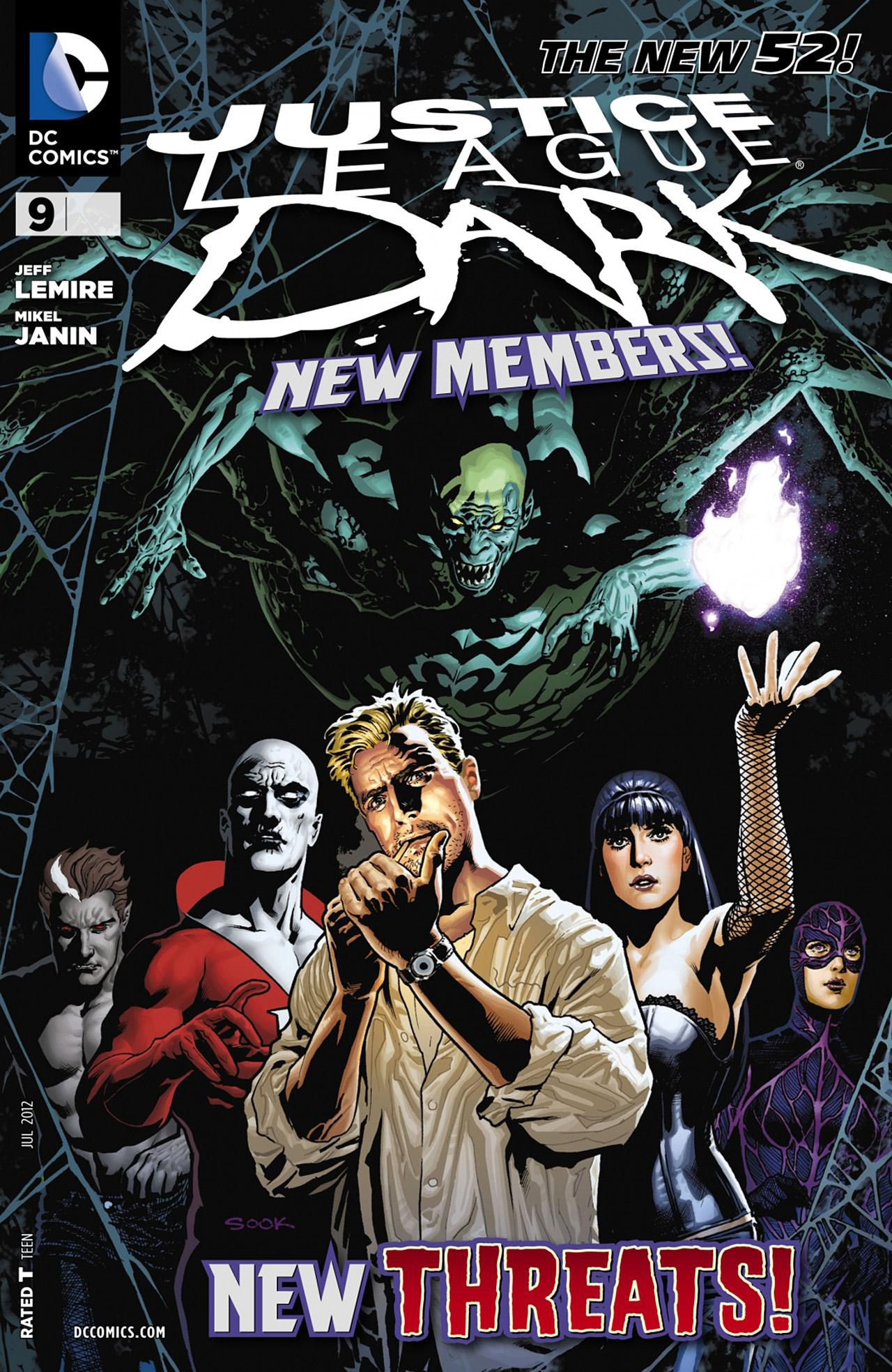 Couverture du comic Justice League Dark #9 (The New 52)