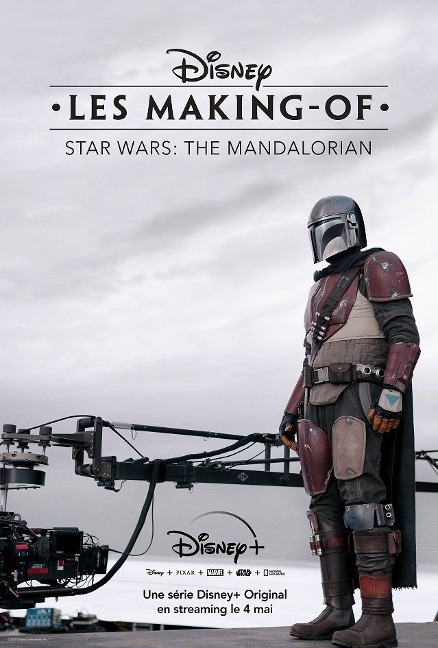 Affiche de la série documentaire Disney+, Les making-of – Star Wars : The Mandalorian