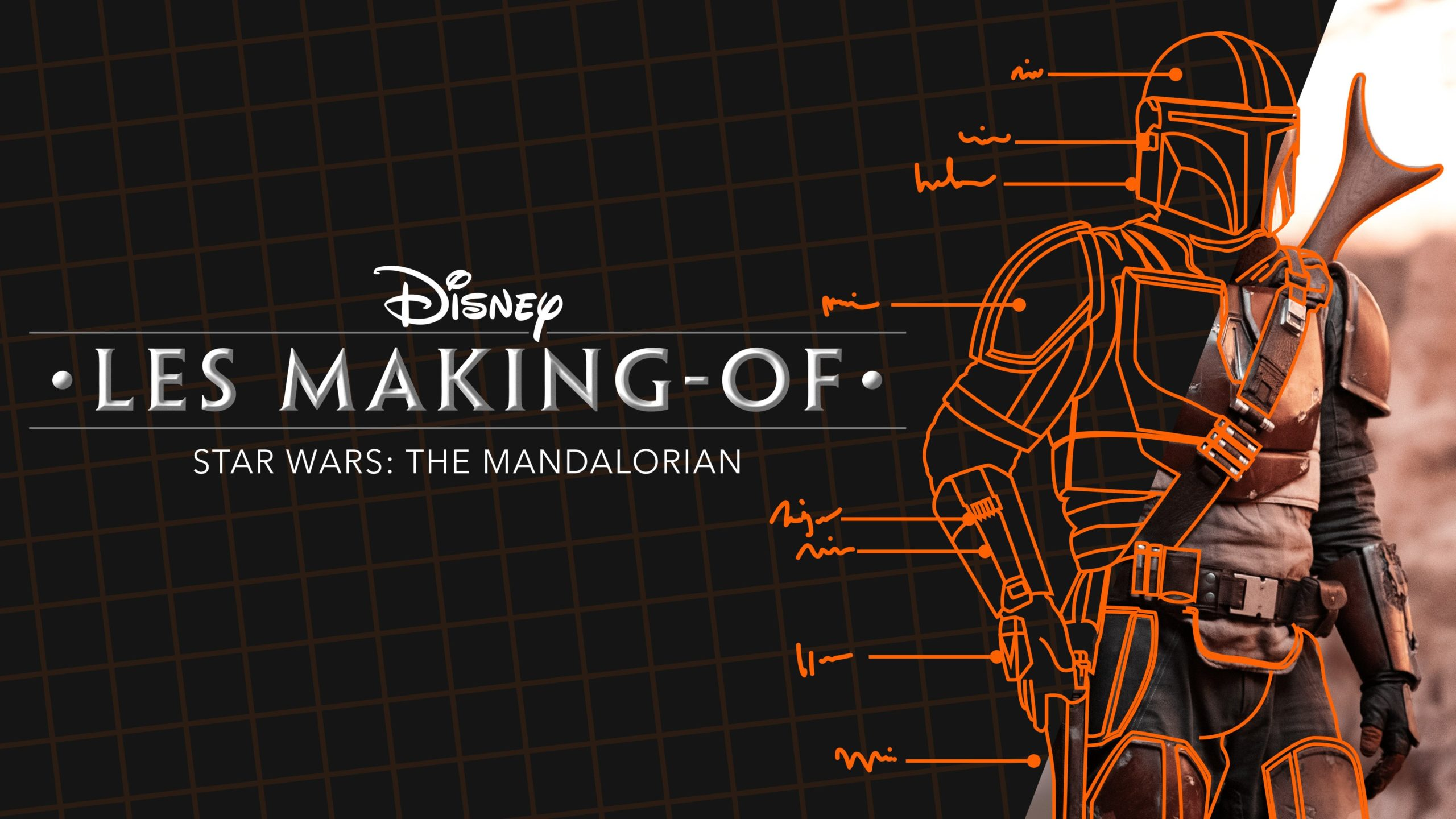 Bannière de la série documentaire Disney+, Les making-of – Star Wars : The Mandalorian
