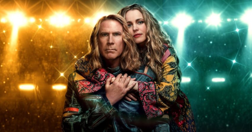 Bannière du film Netflix, Eurovision Song Contest: The Story of Fire Saga, avec Will Ferrell et Rachel McAdams